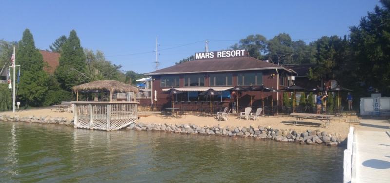 Mars Resort Sign from the Pier